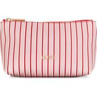 Liu Jo Striped Make Up Bag - Vermelho