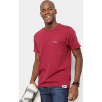 Camiseta Toiss Estampa Costa Sagrado Coração - Masculino-Bordô