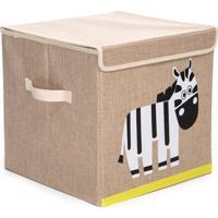 Caixa Organizadora Dolce Home Linha Bichos Com Tampa - Zebra Bege - Bege - Dafiti