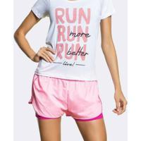 Shorts Live Smart Run 4Way - Feminino-Pink+Rosa