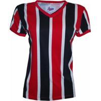 Camisa Liga Retrô Listrado 1 - Feminino