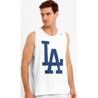 Camiseta Regata New Era Mlb Los Angeles Dodgers - Masculino-Branco+Azul