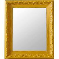 Espelho Moldura Rococó Raso 16372 Amarelo Art Shop