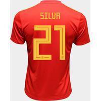 Camisa Seleção Espanha Away 2018 N° 21 Silva - Torcedor Adidas Masculina - Masculino