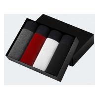 Kit 4 Cuecas Boxer - Cinza - Vermelha - Branca E Preta