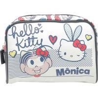 Necessaire Mônica E Hello Kitty 23,5 X 6,5 X 17 Cm