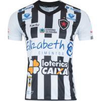 ... Camisa Do Botafogo-Pb I 2018 Nº 10 Karilu - Masculina - Branco Preto 13359dada81cd