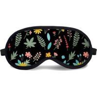 Máscara De Dormir Tritengo Floral Canadá Preta - Unissex-Preto