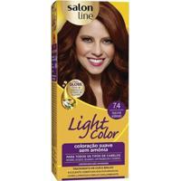 Light Color Prof Salon Line - 7.4 Louro Mel Acobreado - Unissex-Incolor