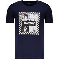 Camiseta Puma Check Graphic Masculina - Masculino-Marinho