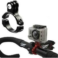 Suporte Mount Bike De Guidão E Cilindro Para Câmeras De Ação Gopro Hero Sjcam Xiaomi - Unissex
