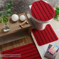 Jogo Para Banheiro Slim- Vermelho & Preto- 3Pã§S-Oasis