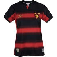 Camisa Do Sport Recife I 2020 Umbro - Feminina - Preto/Vermelho