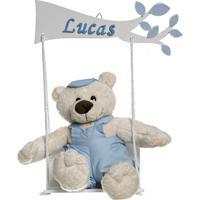Balança Com Urso Menino Bebê Infantil Menino Potinho De Mel Azul