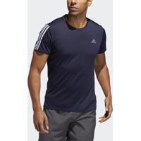 Camiseta Adidas Running 3Stripes Masculina - Masculino