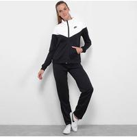 Agasalho Nike Nsw Suit Feminino - Feminino-Preto+Branco