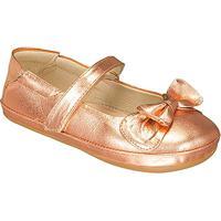 Sapato Boneca Em Couro Metalizado- Cobre- Kidskimey