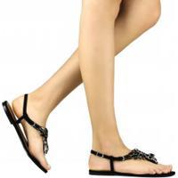 Sandália Zariff Shoes Rasteira Nobuck Pedrarias