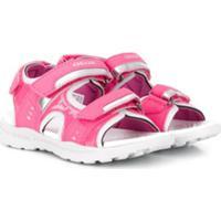 Geox Kids Sandália Com Velcro - Rosa