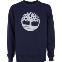 Blusão De Moletom Timberland Basic Crew Ii - Masculino - Azul Escuro