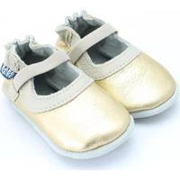 Sapato Mary Jane Feminino Bebê Ouro - Feminino-Dourado