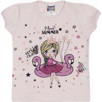 "Blusa Feminina Infantil Estampada ""Girl Summer"""""""