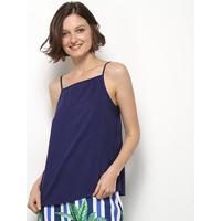 Blusa Mercatto Alcinha Feminina - Feminino-Azul Escuro