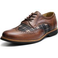 Sapato Social Shoes Grand Chess Chocolate