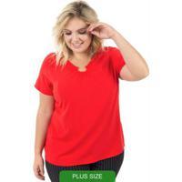 Blusa Em Tecido Vermelho