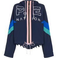P.E Nation Jaqueta Electric Eye Com Estampa De Logo - Azul