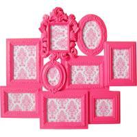 Porta Retrato Plástico Multiple Barroque Frame 9 Photos 58X66Cm