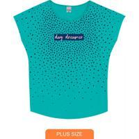 Blusa Azul Turquesa Day Dreamer Plus