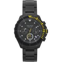 Relógio Nautica Masculino Aço Preto - Napptr006