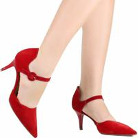 Sapato Scarpin Zariff Bico Fino Vermelho