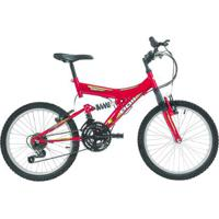 Bicicleta Polimet Kanguru Full Suspension Aro 20 V-Brake Infantil 18V - Unissex