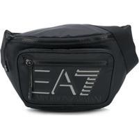 Ea7 Emporio Armani Pochete Com Estampa De Logo - Preto