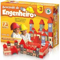Brincando De Engenheiro 73 Peças - Xalingo - Unissex-Incolor