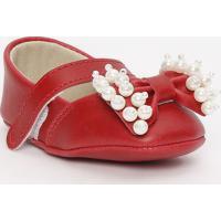 Sapato Boneca Com Laço - Vermelho - Ticco Babytico Baby