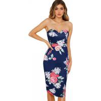 Vestido Lovely Flowers - Azul Xg