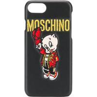 Moschino Capa Para Iphone 8 - Preto