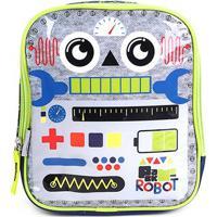 Lancheira Infantil Pacific Pack Me Robot - Masculino-Azul+Verde
