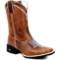 Bota Mr West Boots Texana Masculina Fossil Sella Azul Bebê