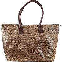 Bolsa Shopper Fibra Metalizada Bronze