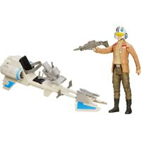 Boneco Articulado E Veículo - Star Wars - Episódio Vii - Poe Dameron E Speeder Bike - Hasbro - Masculino-Incolor