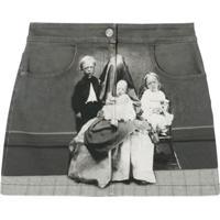 Burberry Saia Jeans Victorian Portrait - Cinza
