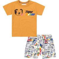 Conjunto Tigor T. Tigre Proteção Antiviral Infanti