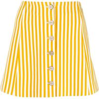 C'Est La V.It Magic Striped Mini Skirt - Amarelo