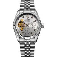 Relógio Tevise 629 Masculino Automático Pulseira Aço - Branco