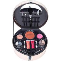 Maleta De Maquiagem Fenzza Fz40005 Make Up Chic Collection Bronze