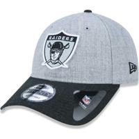 5d7486909b Netshoes  Boné 920 Oakland Raiders Nfl Aba Curva Strapback New Era -  Masculino